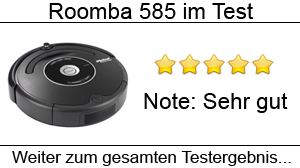 Beitragsbild Saugrobotertest Roomba 585