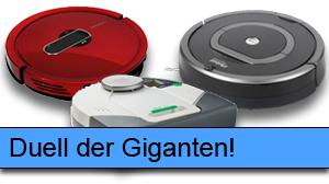Beitragsbild iRobot Roomba 780, Vorwerk VR100, Moneual MR7700 im Duell!