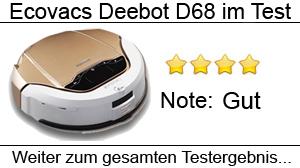 Beitragsbild Saugroboter Ecovacs Deebot D68 im Test