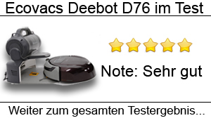 Beitragsbild Saugroboter Ecovacs Deebot D76 im Test