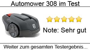Beitragsbild Mähroboter Husqvarna Automower 308 im Test