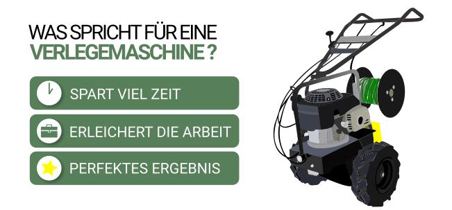 Vorteile Kabelverlegemaschine Rasenroboter
