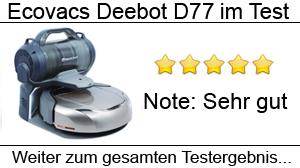 Beitragsbild Ecovacs Deebot D77 im Test