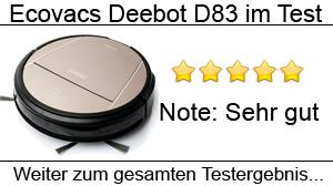 Beitragsbild Ecovacs Deebot D83 im Test