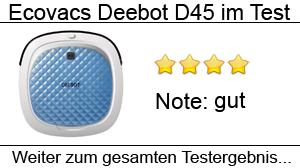 Beitragsbild Ecovacs Deebot D45 im Test