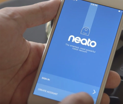 Neato App Account anlegen