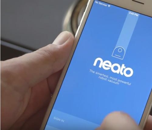 Neato App einloggen