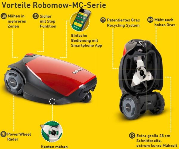 Robomow MC Vorteile