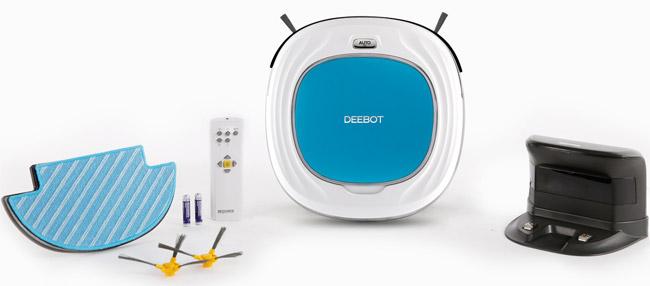 Deebot D45 beim Wischen und Saugen
