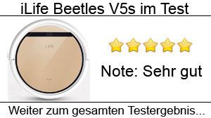 Beitragsbild iLife Beetles V5s Staubsaugroboter im Test