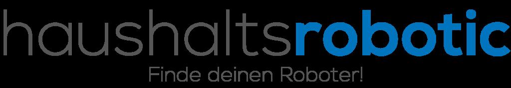 Logo haushaltsrobotic blau schwarz