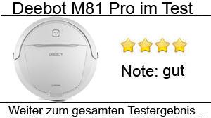Beitragsbild Deebot M81 Pro Saug-Wischroboter im Test