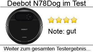 Beitragsbild Deebot N78D Saugroboter Tierhaare im Test