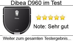 Beitragsbild Dibea D960 Staubsaugroboter im Test