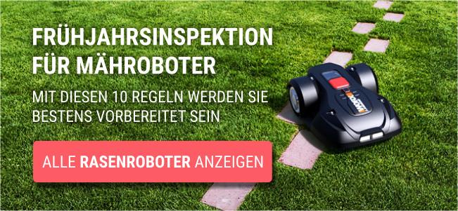 Garten Rasenroboter Frühjahrsinspektion