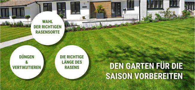 Frühjahrsinspektion perfekter Rasen
