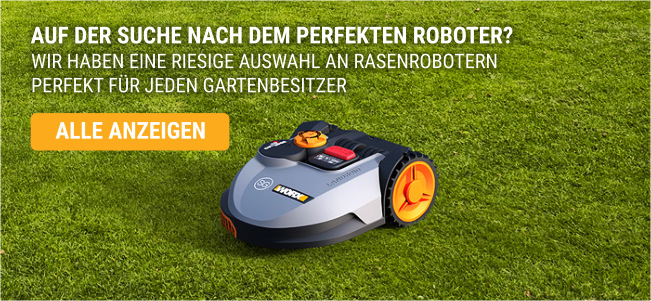 Rasen Information Rasenroboter grau orange