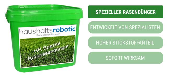 Rasendünger für Rasenroboter