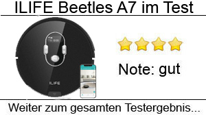 Beitragsbild ILIFE Beetles A7 Staubsauger Roboter im Test