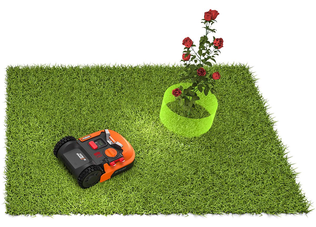 Landroid M700 schützt Blumen