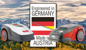 Beitragsbild Der Robolinho® Mähroboter wird in Deutschland entwickelt und in Österreich produziert