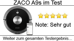 Beitragsbild Zaco A9s Staubsaugroboter mit pulsierender Wischfunktion im Test