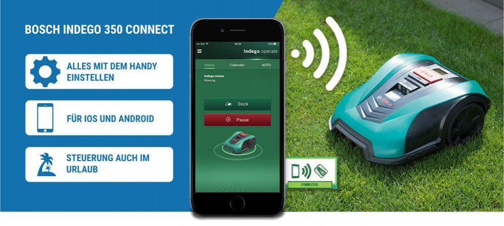 Bosch Indego Appsteuerung Vorteile Wiese
