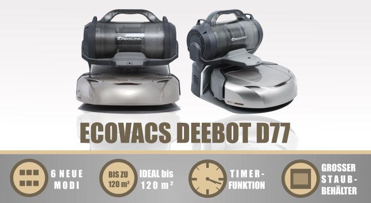 Ecovacs Deebot D77 grau