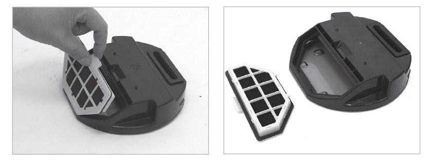 Filter entnehmen und Staubbehälter des Robosauger reinigen
