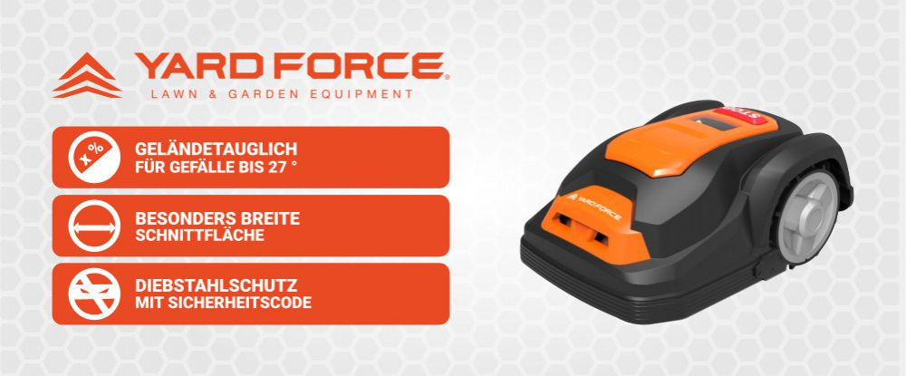Yard Force Rasenroboter mit Logo