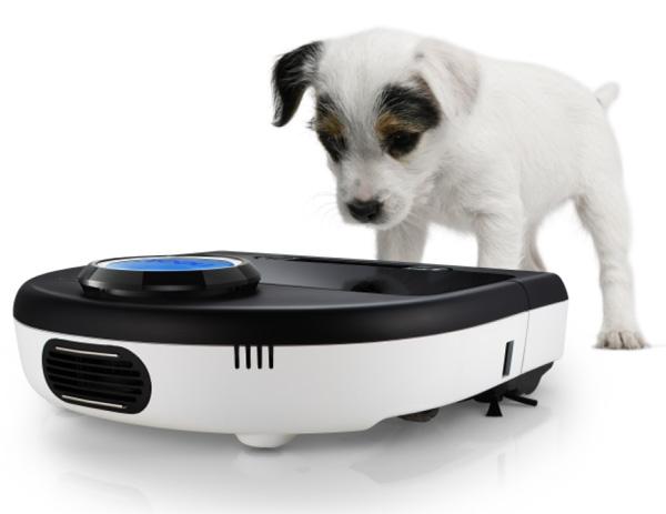 Botvac D85 mit Hund