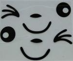 Gesicht Aufkleber (2 Stck.) für Saugroboter - Haushallts-Robotic