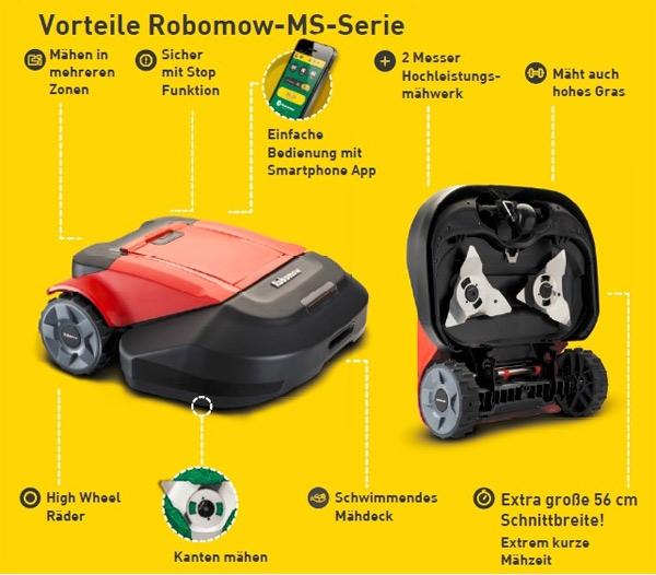 Robomow MS2500 Vorteile