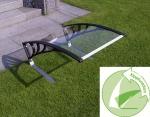 Dach mit Kippfunktion in transparent für Rasenmähroboter