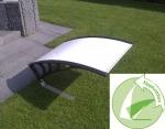 Dach mit Kippfunktion in weiß für Rasenmähroboter
