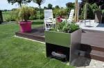 Garage mit Hochbeet für alle Rasenmähroboter
