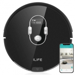 ILIFE Beetles A7 (mystic black) designer Saugroboter mit App für IOS u. Android