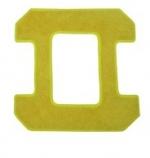 Microfaserpad gelb 1 Stück für Hobot Square