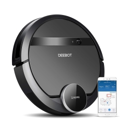 Deebot D901 Staubsaugroboter mit Lasernavigation und App für IOS u. Android