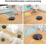 Bild 1: Tesvor S4 Staubsaugroboter mit App und Lasernavigation